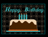 Happy Birthday Mug Rug  5x7