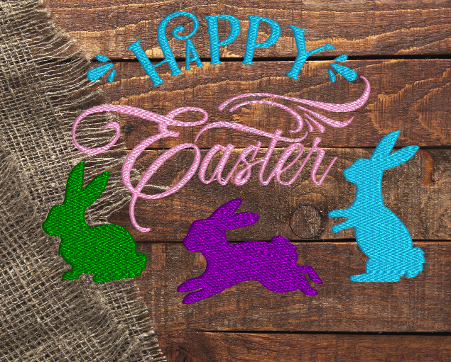Happy Easter Bunnies 5x7