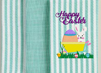 Happy Easter Bunny WB 5x6