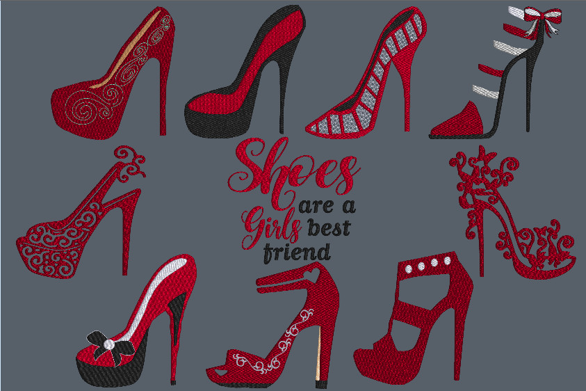 Shoes Are a Girls Best Friend   (5x5)