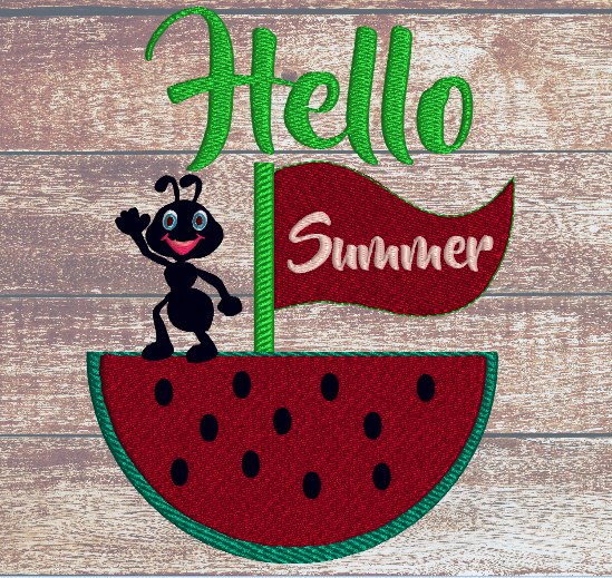 Hello Summer Ant  5x7