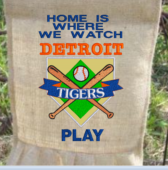 Home Is Where We Watch Tigers 9x6