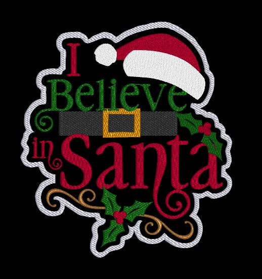 I Believe In Santa 8x8