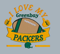 I Love My Packers  5x5