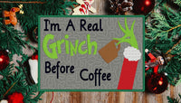 Im A Real Grinch Mug Rug 5x7