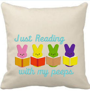 Just Reading With My Peeps 5x7