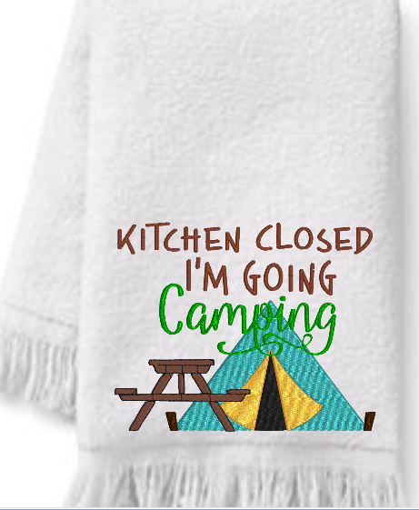 Kitchen Closed  I'm Going Camping 5x4