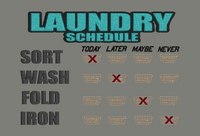 Laundry Schedule 9x6