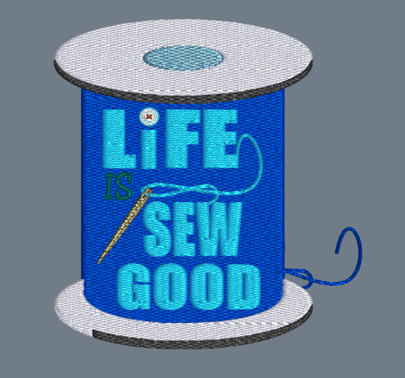 Life Is Sew Good  5x5