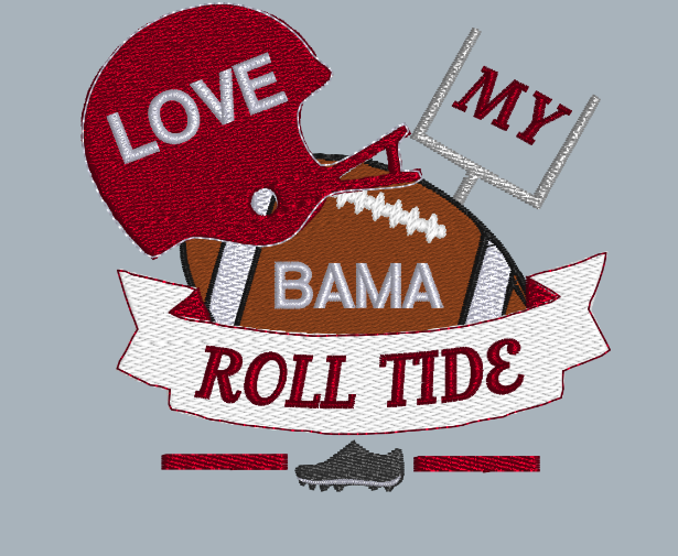 Love My Roll Tide 5x5
