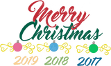 Merry Christmas Bulbs, Scrolls SVG