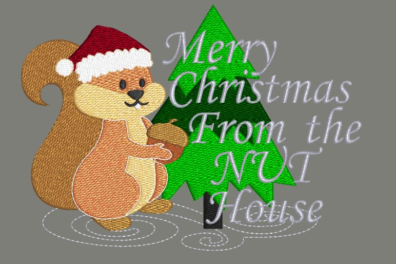 Merry Christmas From The Nut House 5x7
