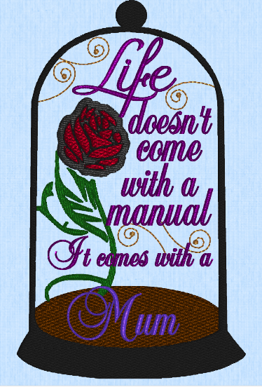 Mother's Day Cloche  Mum  5x7