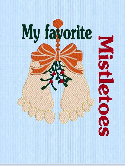 My Favorite Mistletoes  5x7