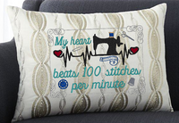 My Heart Beats 100 Stitches 5x7