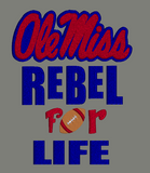 Ole Miss Rebels 5x7