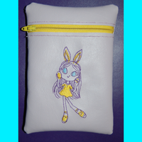 Zipper Bag Easter Girl 5x7