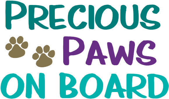 Precious Paws On Board SVG