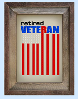 Retired Veteran Flag 5x7