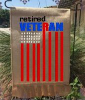 Retired Veteran Flag 9x6