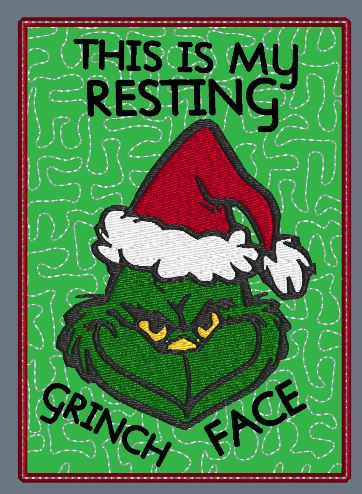 33819344a1e8f This Is My Resting Grinch Face Mug Rug 5x7