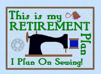 This is my retirement plan mug rug