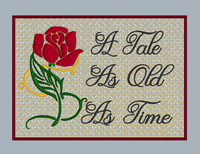 A Tale As Old As Time Mug Rug 5x7