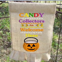 Candy Collectors Welcome Here 9x6