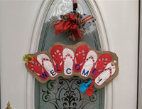 Flip Flop Banner (applique)  8 parts 5x7