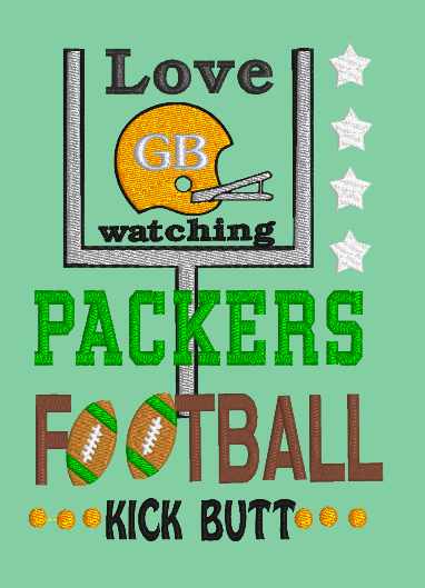 Love Watching Packers Kick Butt 5x7