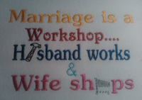 Marriage Is A Workshop 5x7