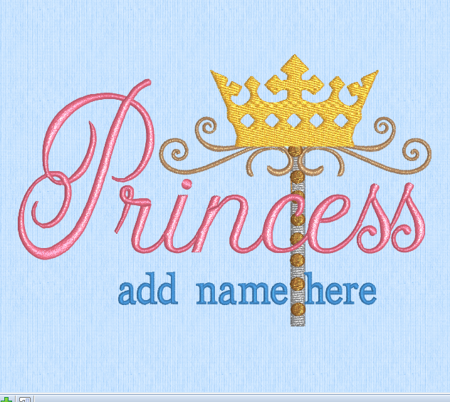 Princess Wand 5x7