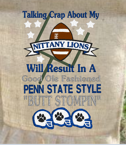 Talking Crap About My Nittany Lions 9x6