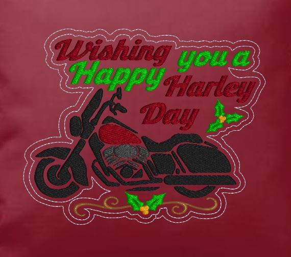 Wishing You A Happy Harley Day  5x7