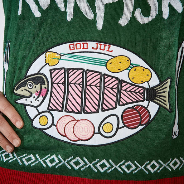 All I Want Is Rakfisk (Herre) Christmas Sweater Mens SillySanta