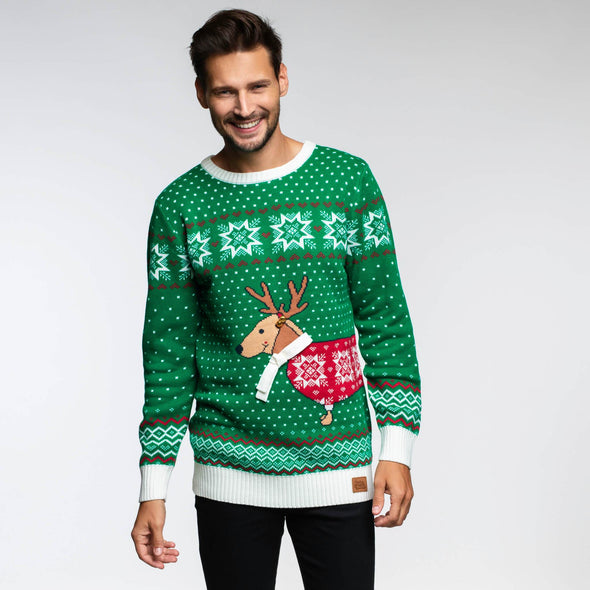 Merry Dogmas (Herre) Christmas Sweater Mens SillySanta