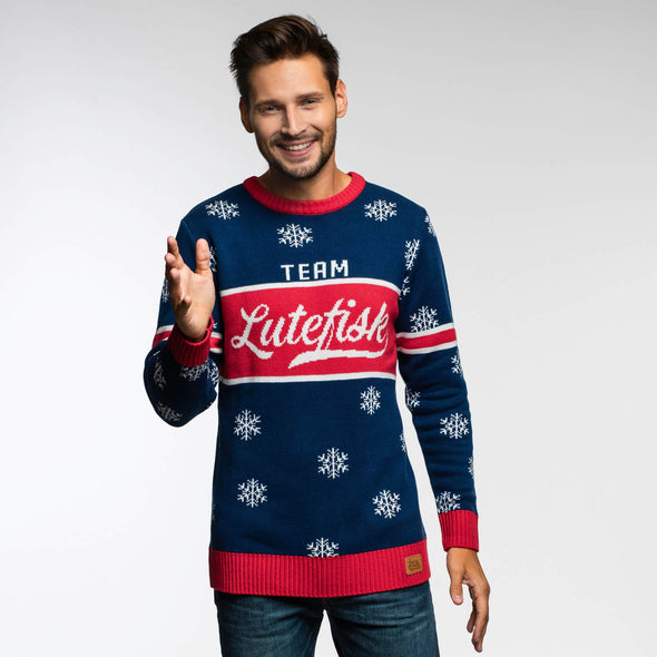 Team Lutefisk (Herre) Christmas Sweater Mens SillySanta