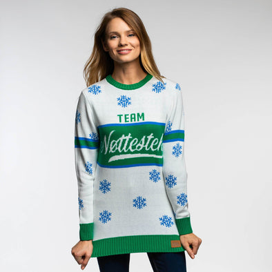 Team Nøttestek (Dame) Christmas Sweater Womens SillySanta