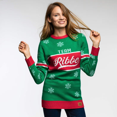 Team Ribbe (Dame) Christmas Sweater Womens SillySanta