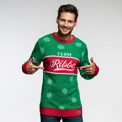 Team Ribbe (Herre) Christmas Sweater Mens SillySanta