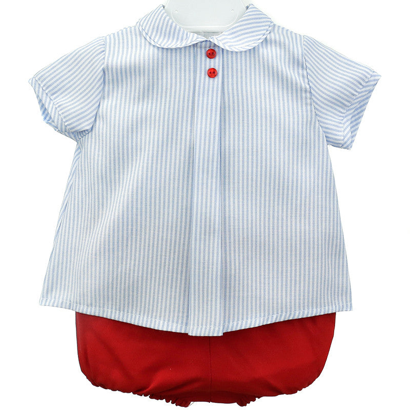 New Peter pan pin stripe shirt with red jam pants – Gabriella's Wardrobe LZ03