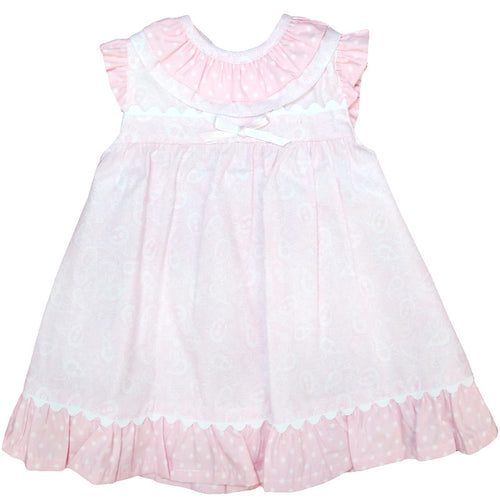 Baby Pink and White Apron Dress