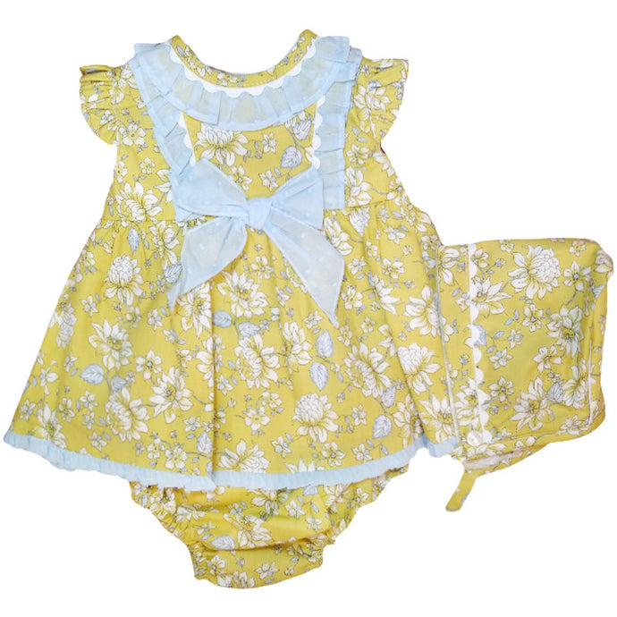 Yellow Flowery Plumeti 3 Piece Set