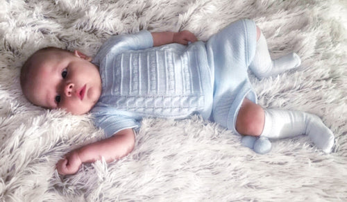 Baby blue knitted two piece