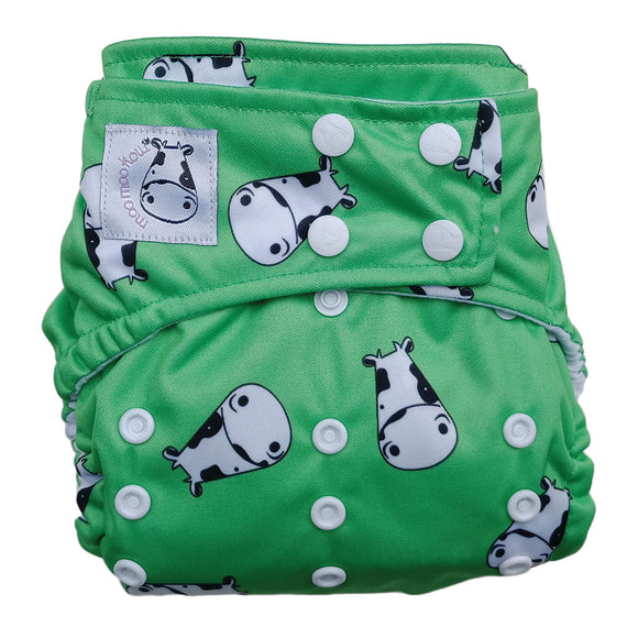 BAMBOO Cloth Diaper One Size Snap - Lucky Kow