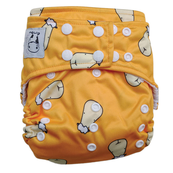 BAMBOO Cloth Diaper One Size Snap - Lucky Sheepz