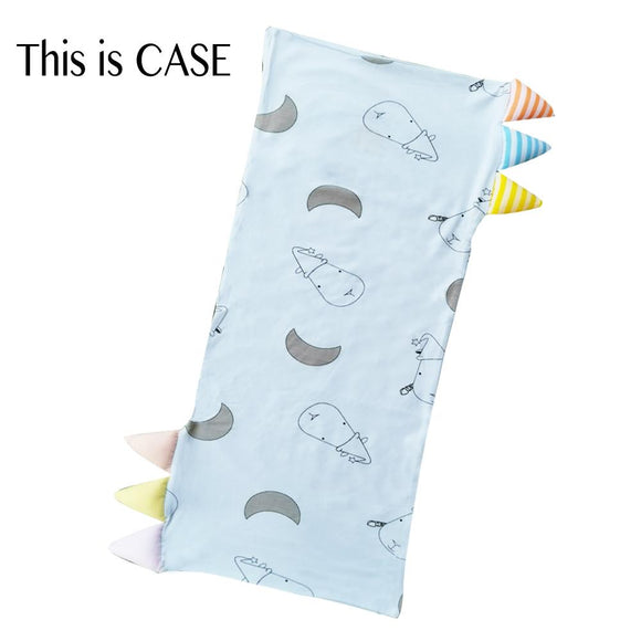 Bed-Time Buddy Case Big Moon & Sheepz Blue with Color & Stripe tag - Medium