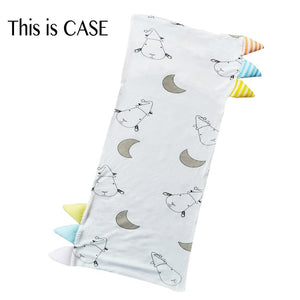 Bed-Time Buddy Case Big Moon & Sheepz White with Color & Stripe tag - Medium