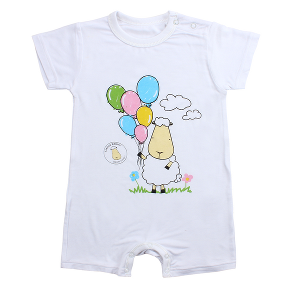 LIMITED EDITION - Romper Short Sleeve Balloon White