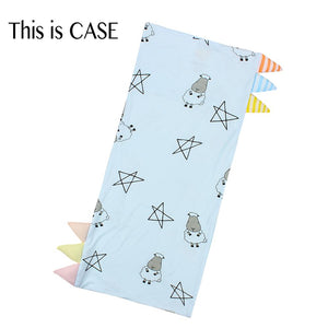 Bed-Time Buddy Case Big Star & Sheepz Blue with Color & Stripe tag - Medium